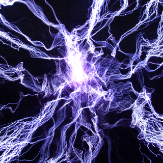 Tesla coil sparks up close.