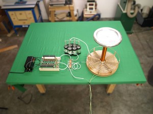 Image of a small Tesla coil